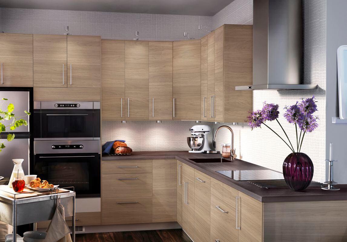 Ночной дизайн кухни