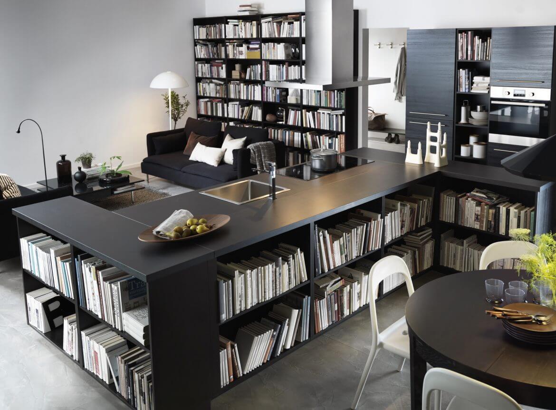 Книжные кухонные шкафы ФАКТУМ