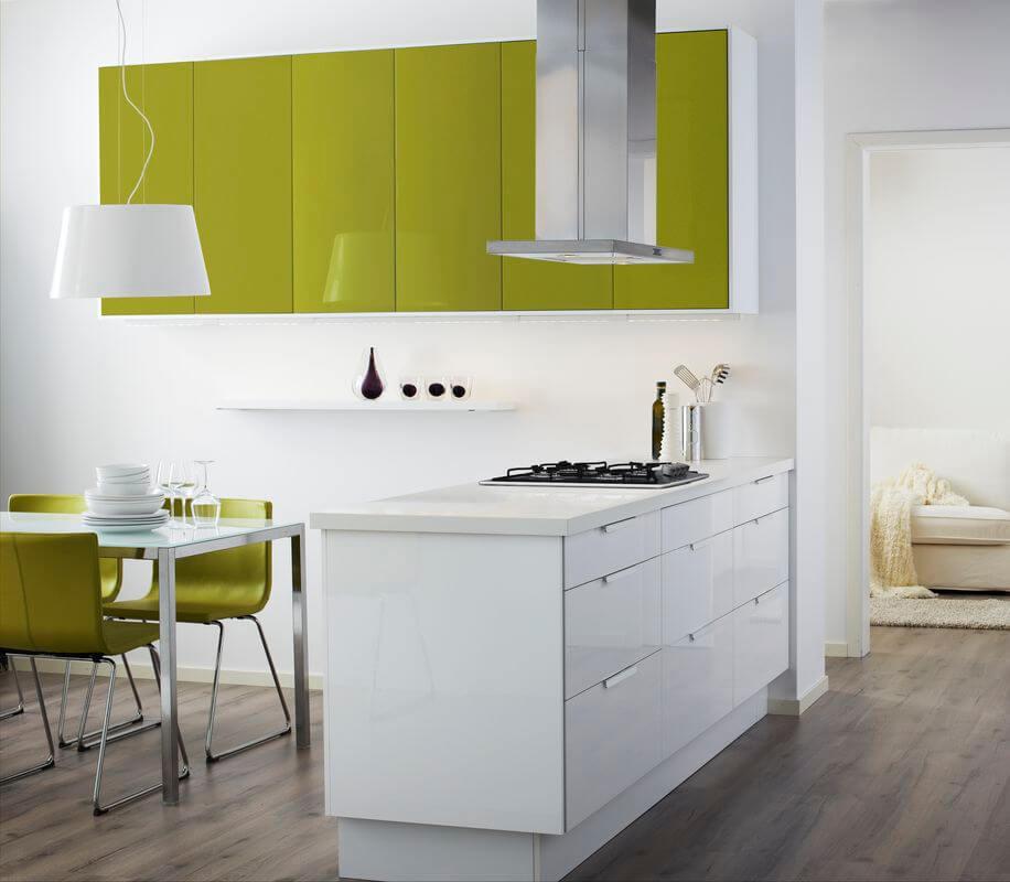 Дизайн кухни: цветные акценты для хорошего настроения