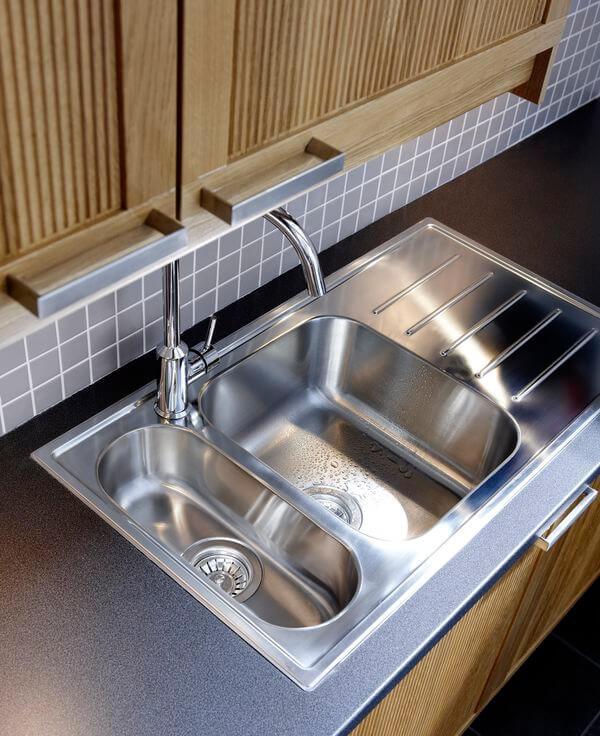 Двойные кухонные мойки — двойная польза