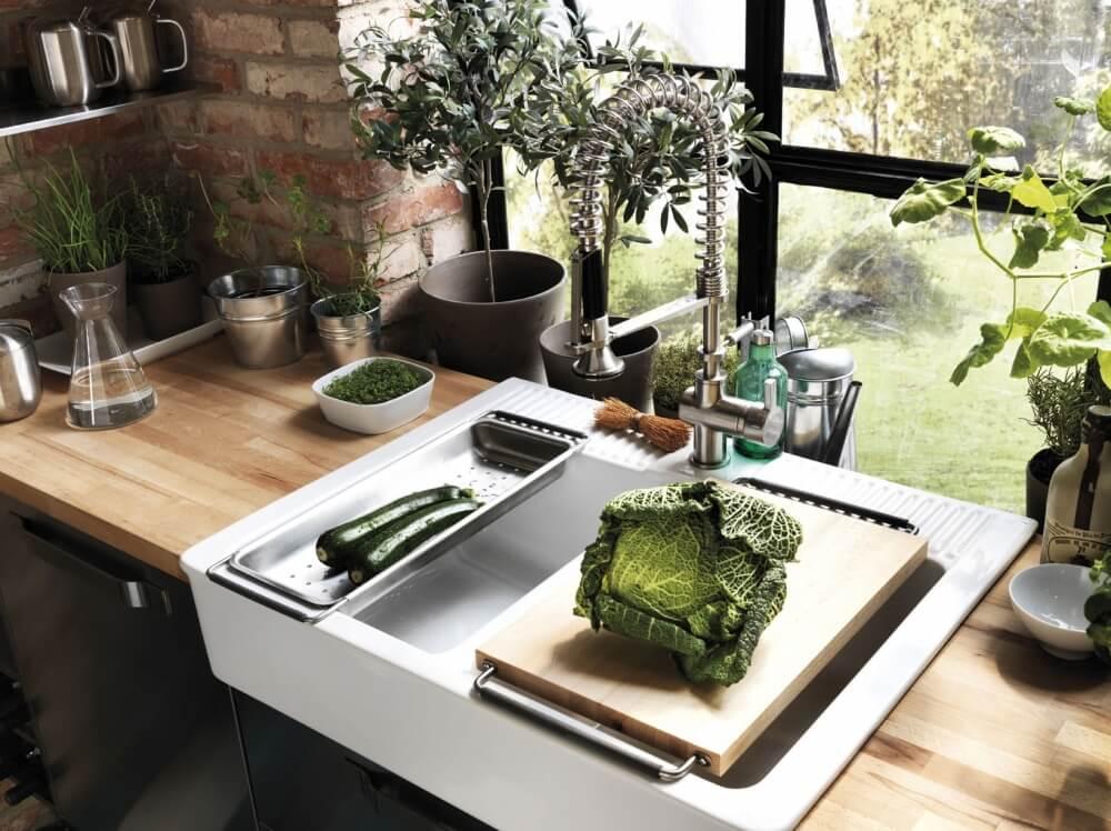 Керамические кухонные мойки для стильной кухни