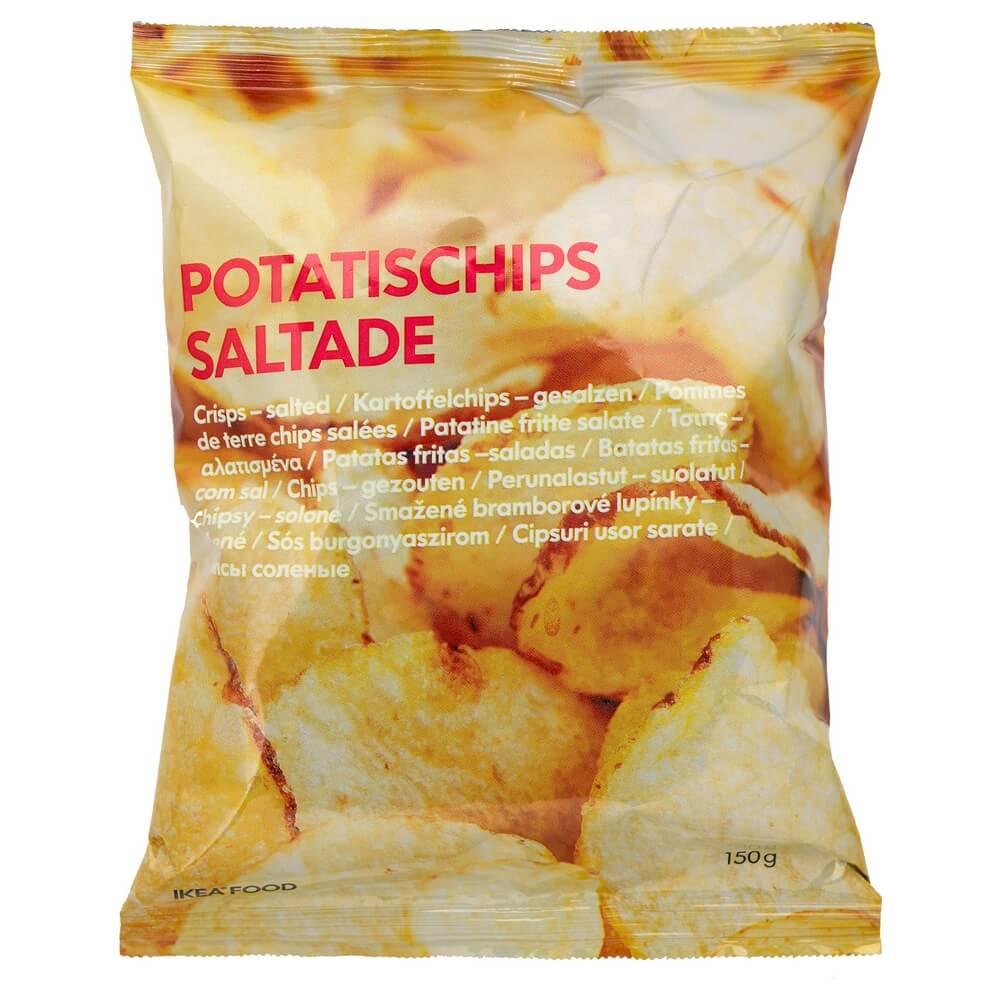 Чипсы с солью POTATISCHIPS SALTADE