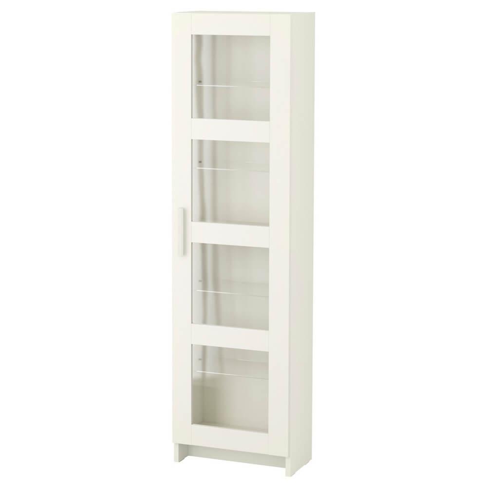 Высокий шкаф со стеклянными дверцами БРИМНЭС