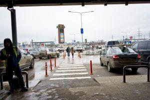 Пешеходный переход к магазину ИКЕА в Химках