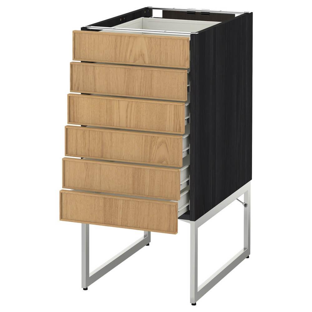 Напольный шкаф (6 фронтальных панелей и 6 низких ящиков) МЕТОД / ФОРВАРА