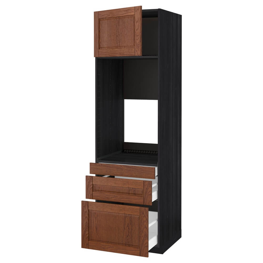 Высокий шкаф для двойной духовки (3 ящика и дверца) МЕТОД / МАКСИМЕРА