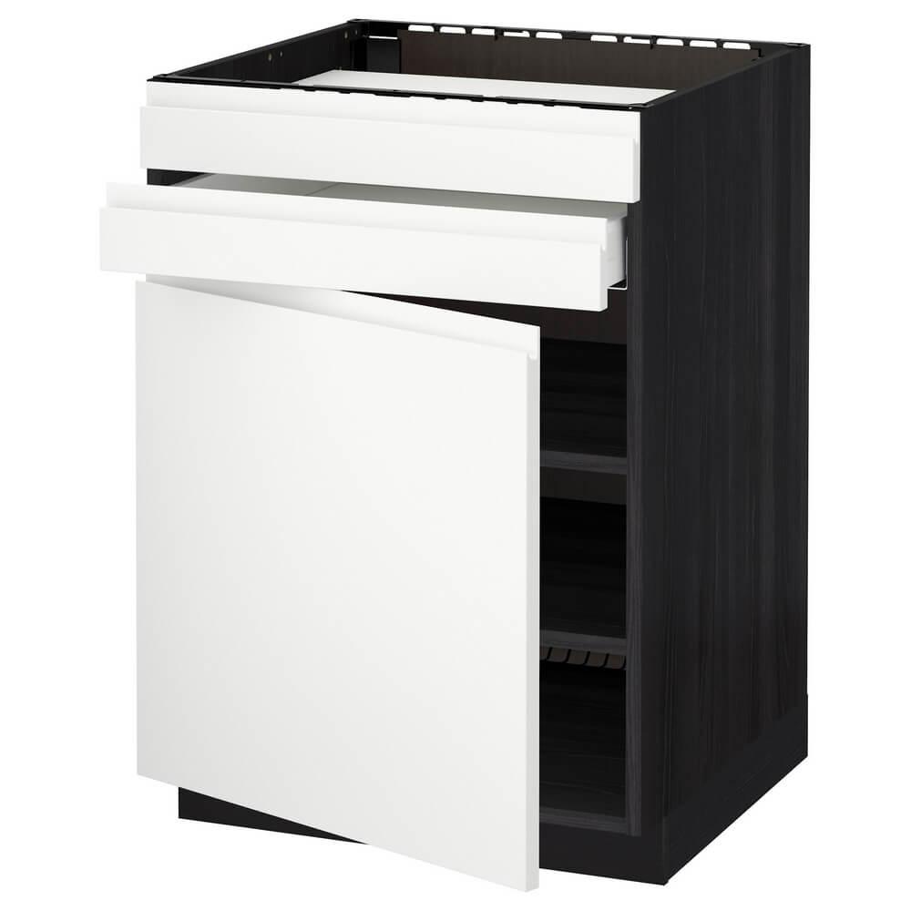 Напольный шкаф для варочной панели (дверца, 2 фасада и 1 ящик) МЕТОД / МАКСИМЕРА