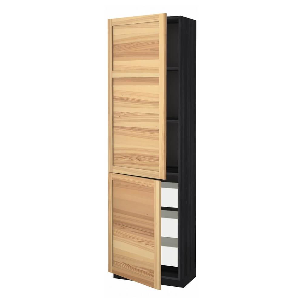 Высокий шкаф (полки, 3 ящика и 2 дверцы) МЕТОД / ФОРВАРА