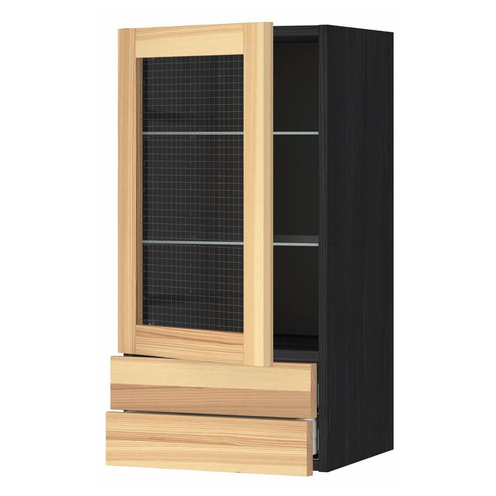 Навесной шкаф (стеклянная дверца и 2 ящика) МЕТОД / МАКСИМЕРА
