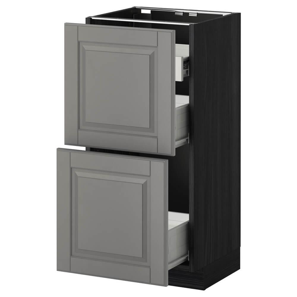 Напольный шкаф (2 фронтальные панели, 1 низкий и 2 средних ящика) МЕТОД / ФОРВАРА