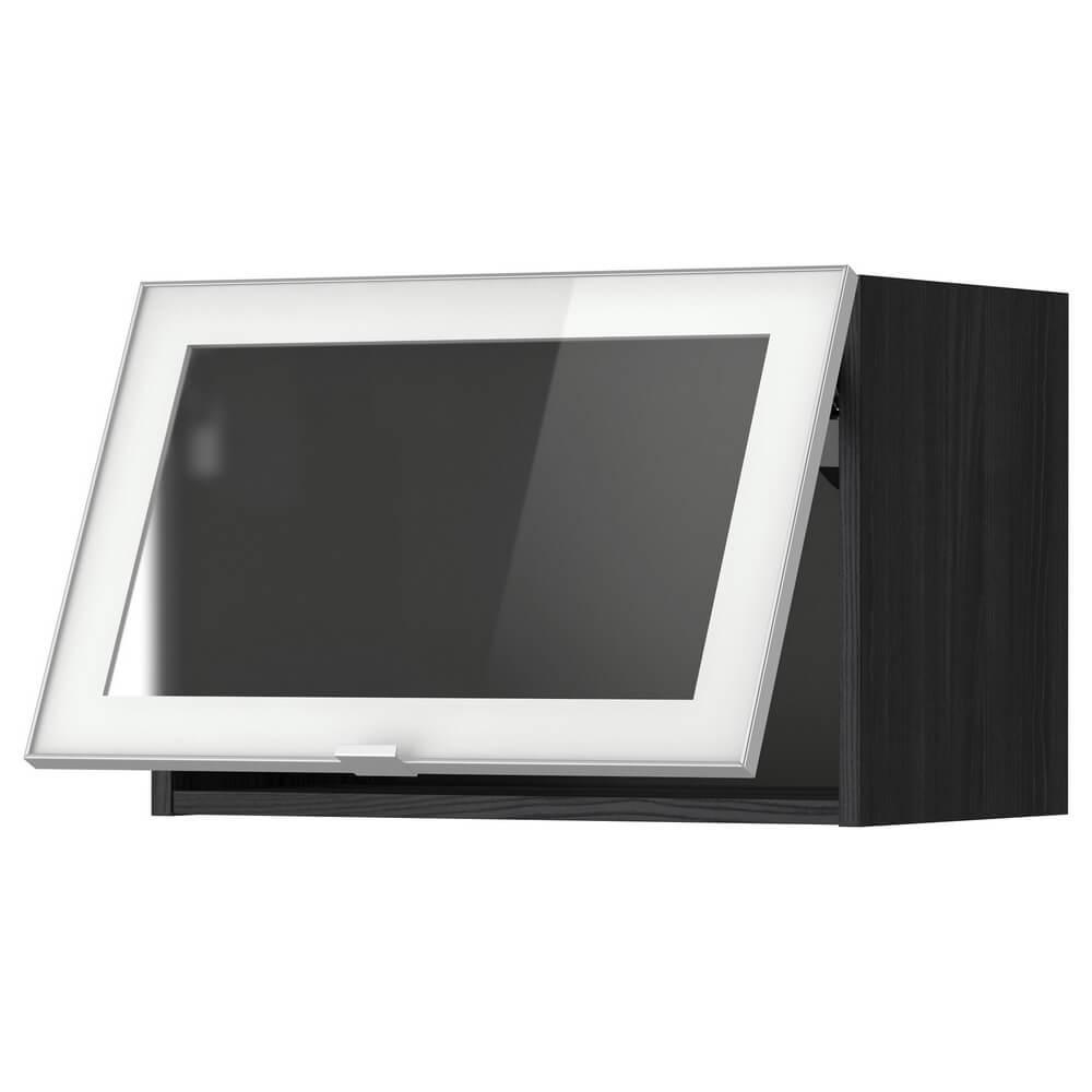 Горизонтальный навесной шкаф со стеклянными дверцами МЕТОД