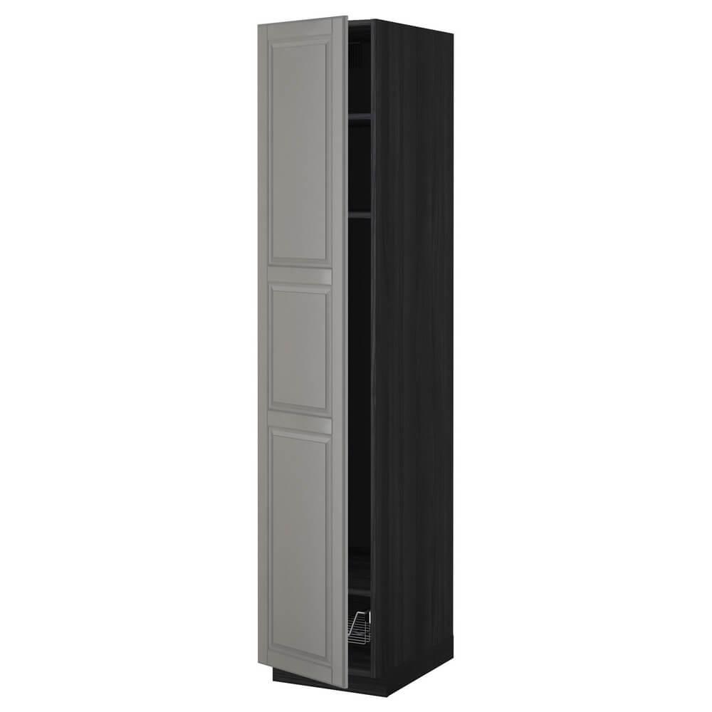 Высокий шкаф с полками (проволочные корзины) МЕТОД