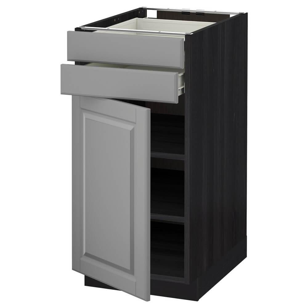 Напольный шкаф с дверцей и 2 ящиками МЕТОД / ФОРВАРА