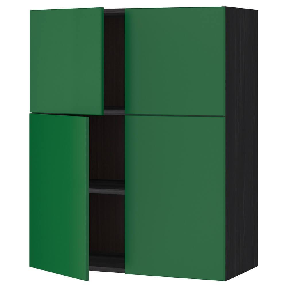 Навесной шкаф с полками и 4 дверцами МЕТОД