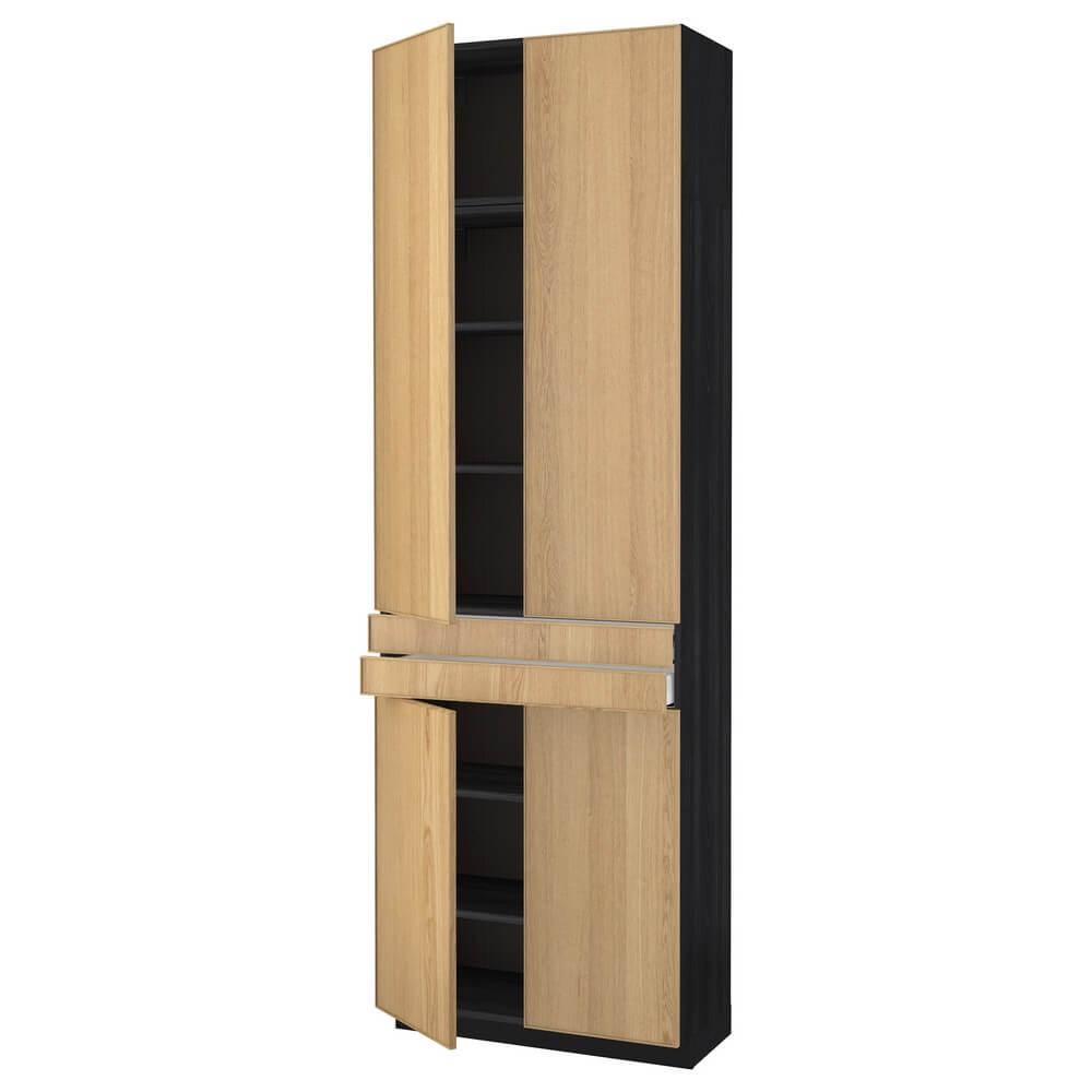 Высокий шкаф (полки, 2 ящика и 4 дверцы) МЕТОД / МАКСИМЕРА