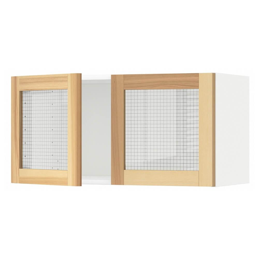 Навесной шкаф с 2 стеклянными дверцами МЕТОД