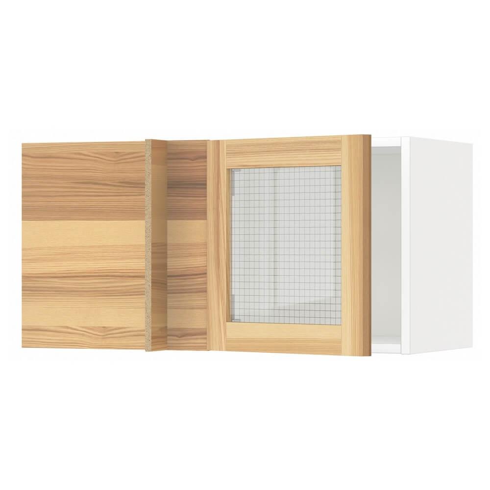 Углов навесной шкаф (стеклянные дверцы) МЕТОД