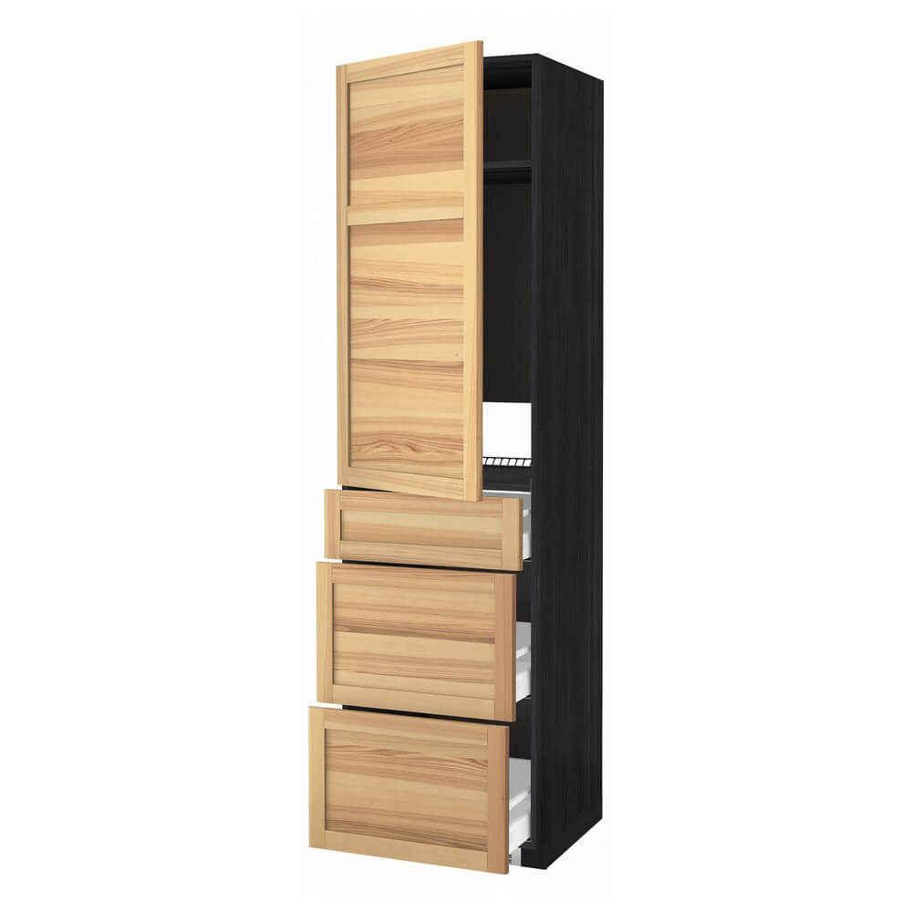 Высокий шкаф для холодильника с дверцей и 3 ящиками МЕТОД / МАКСИМЕРА
