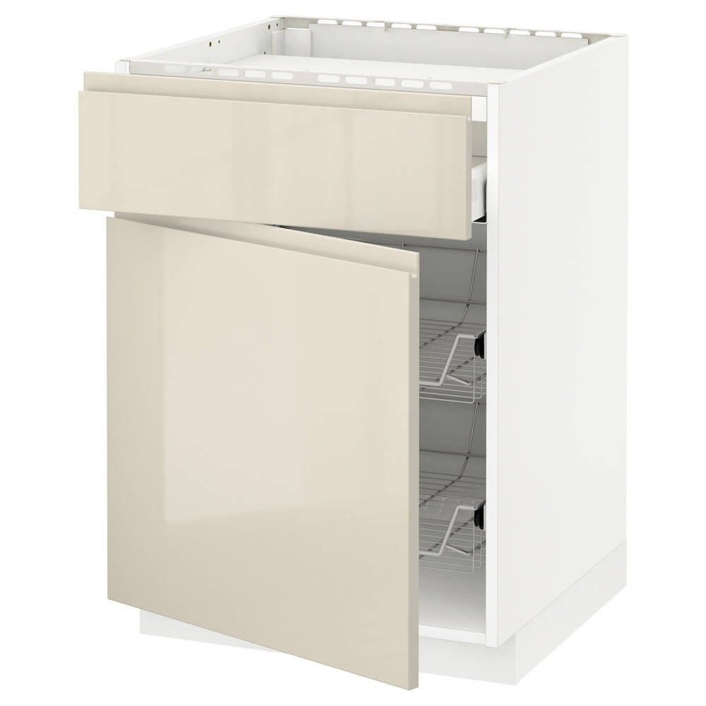 Напольный шкаф для варочной панели (ящик и 2 проволочные корзины) МЕТОД / МАКСИМЕРА
