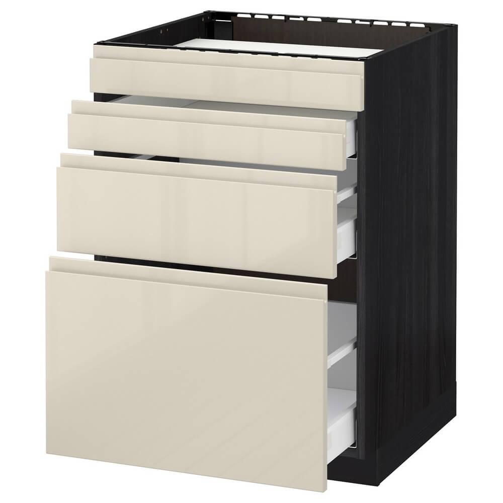 Напольный шкаф для духовки (4 фасада и 3 ящика) МЕТОД / МАКСИМЕРА