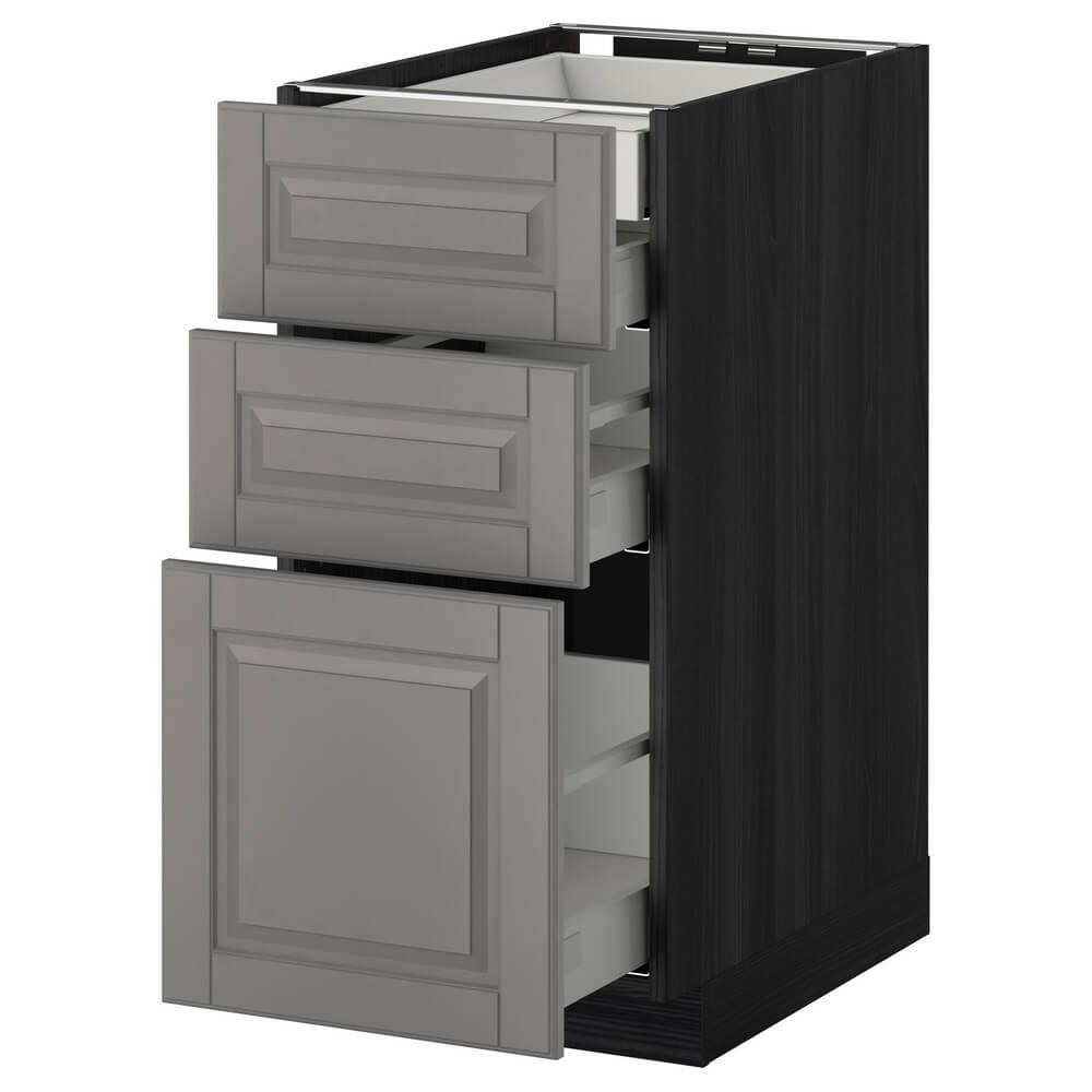 Напольный шкаф (3 фронтальные панели, 2 низких, 1 средний и 1 высокий ящик) МЕТОД