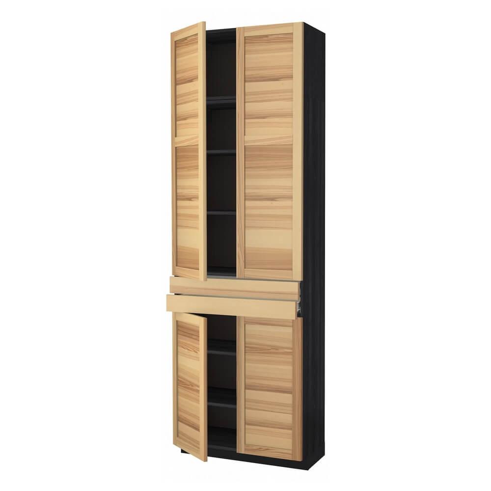 Высокий шкаф (полки, 2 ящика и 4 дверцы) МЕТОД / ФОРВАРА