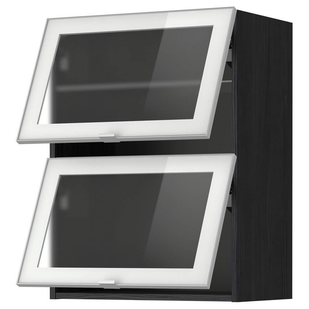 Навесной горизонтальный шкаф / 2 зерк дверц МЕТОД