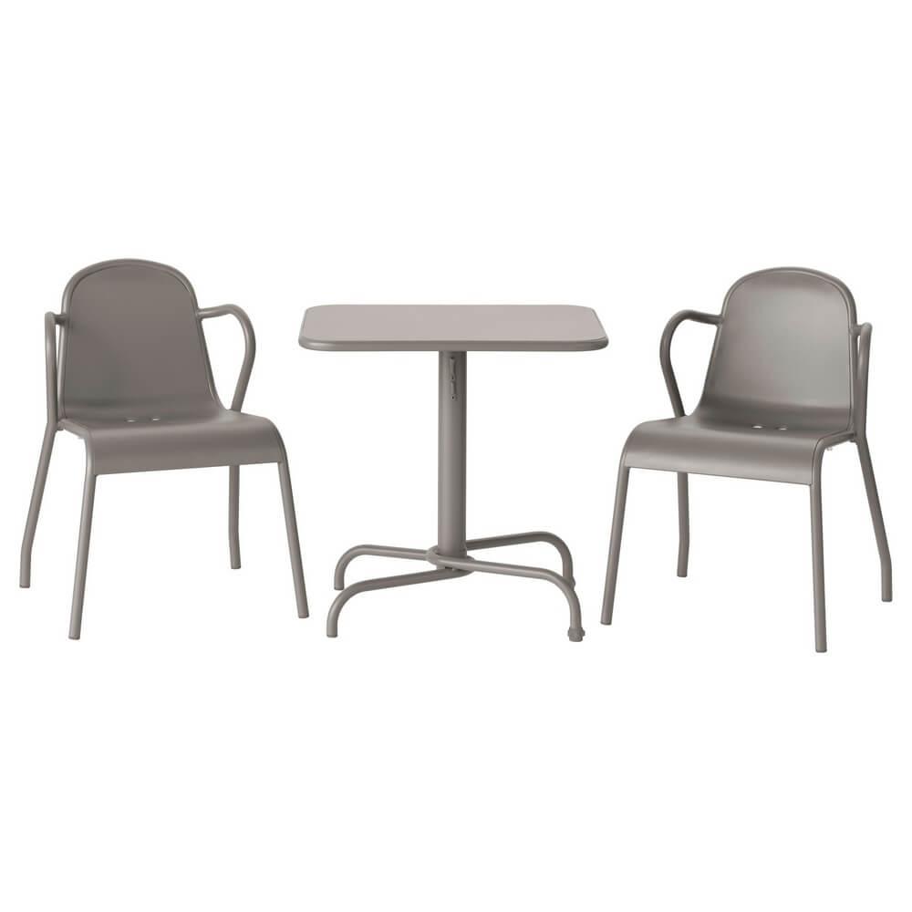 Стол и 2 стула для сада ТУНХОЛЬМЕН
