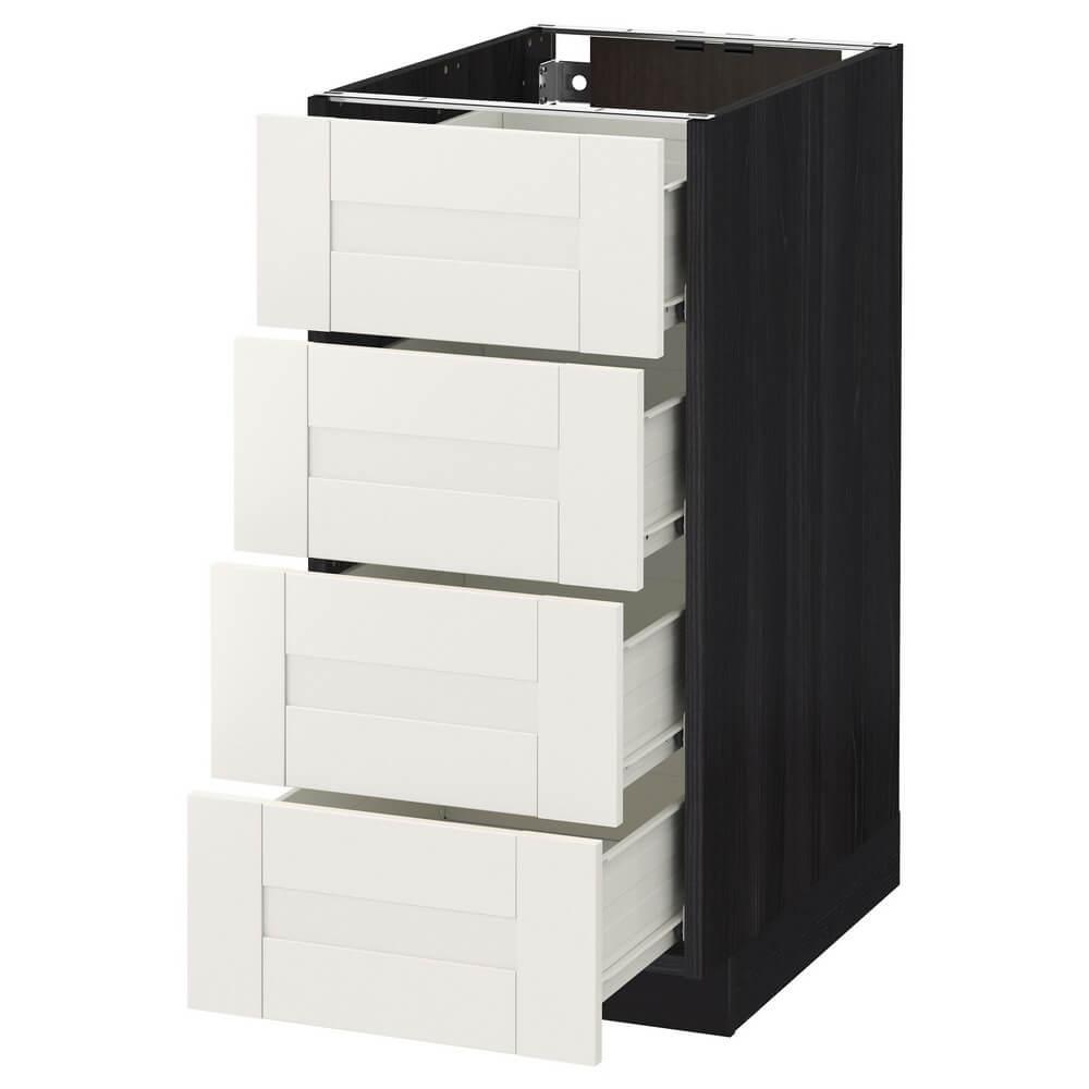 Напольный шкаф (4 фронтальные панели и 4 ящика) МЕТОД / ФОРВАРА