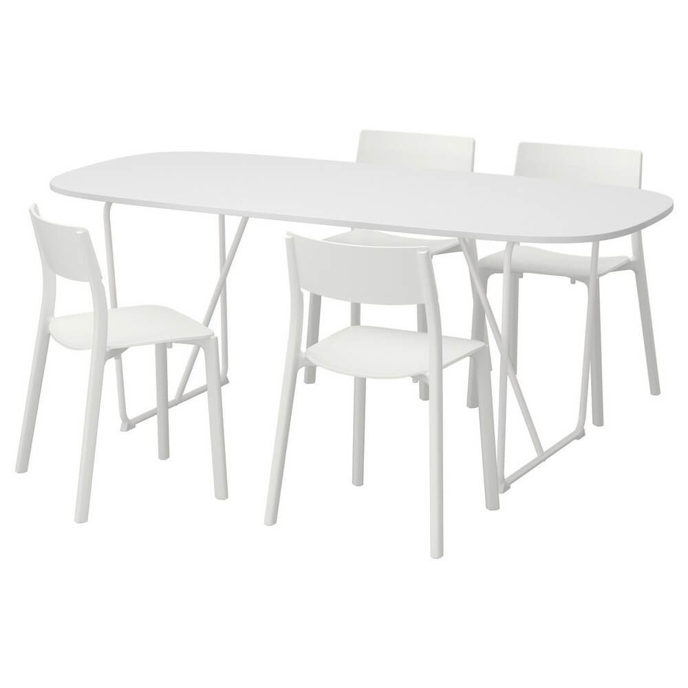 Стол и 4 стула ОППЕБЮ/БЭККАРИД / ЯН-ИНГЕ