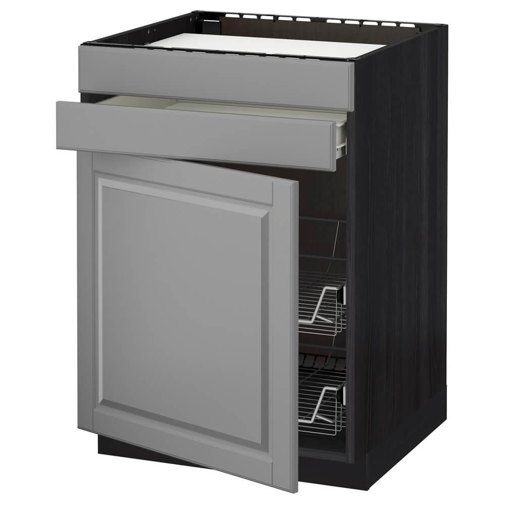 Напольный шкаф для варочной панели (ящик и 2 проволочные корзины) МЕТОД / ФОРВАРА