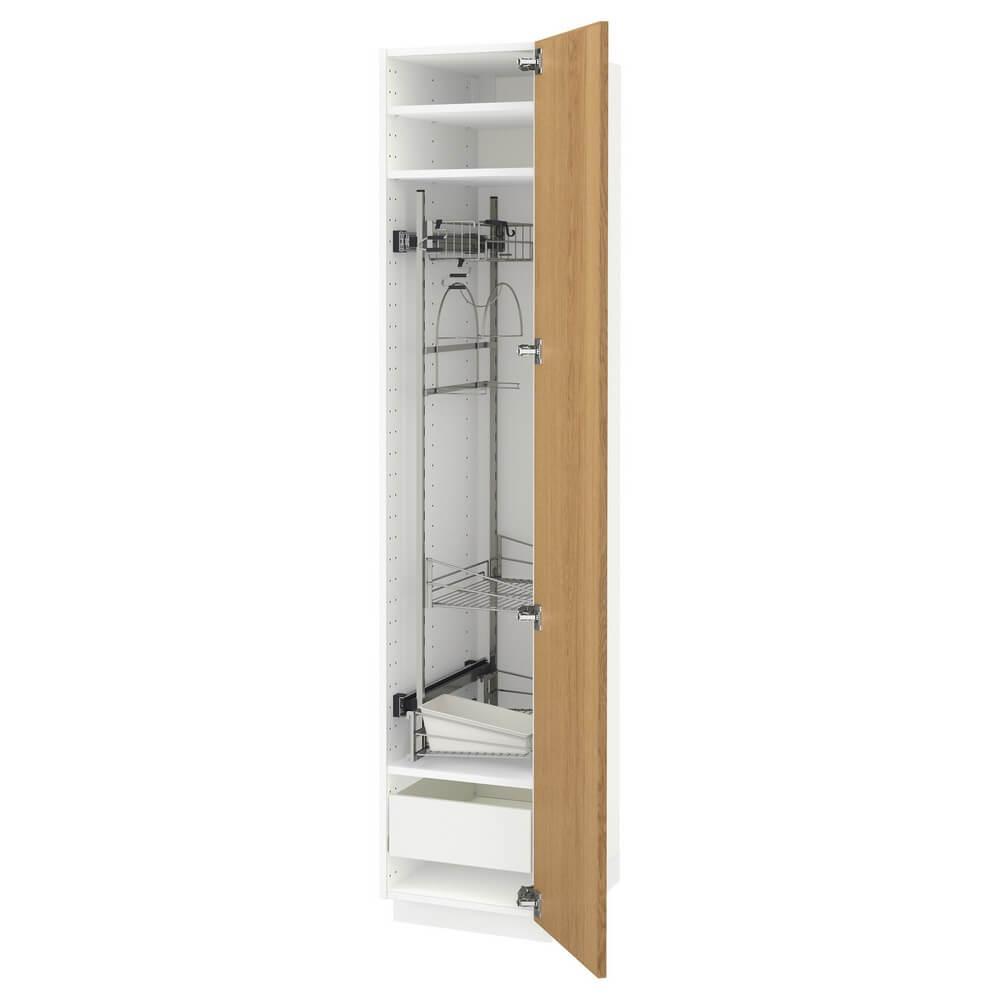 Высокий шкаф с отделением для аксессуаров для уборки МЕТОД / ФОРВАРА