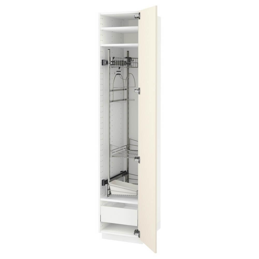 Высокий шкаф с отделением для аксессуаров для уборки МЕТОД / МАКСИМЕРА