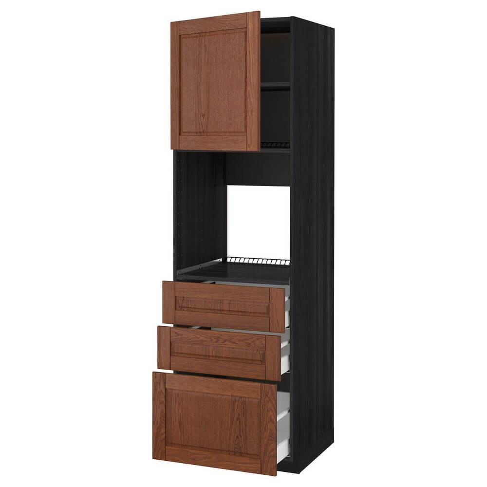 Высокий шкаф для духовки (дверца и 3 ящика) МЕТОД / МАКСИМЕРА