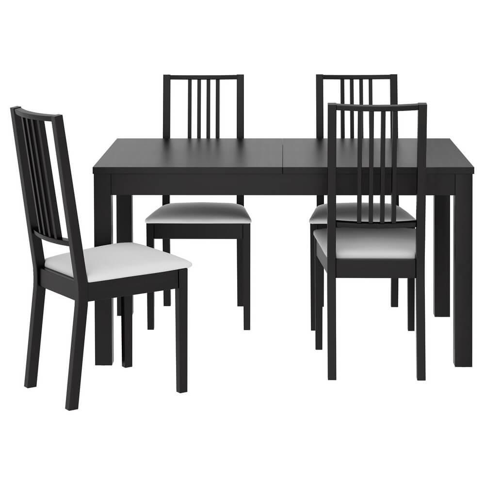 Стол и 4 стула БЬЮРСТА / БЁРЬЕ