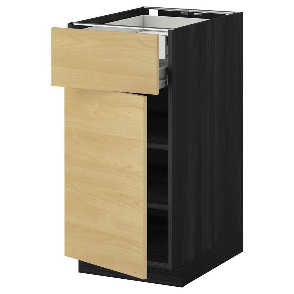 Напольный шкаф (дверца, фронтальная панель, полка и 2 низких ящика) МЕТОД