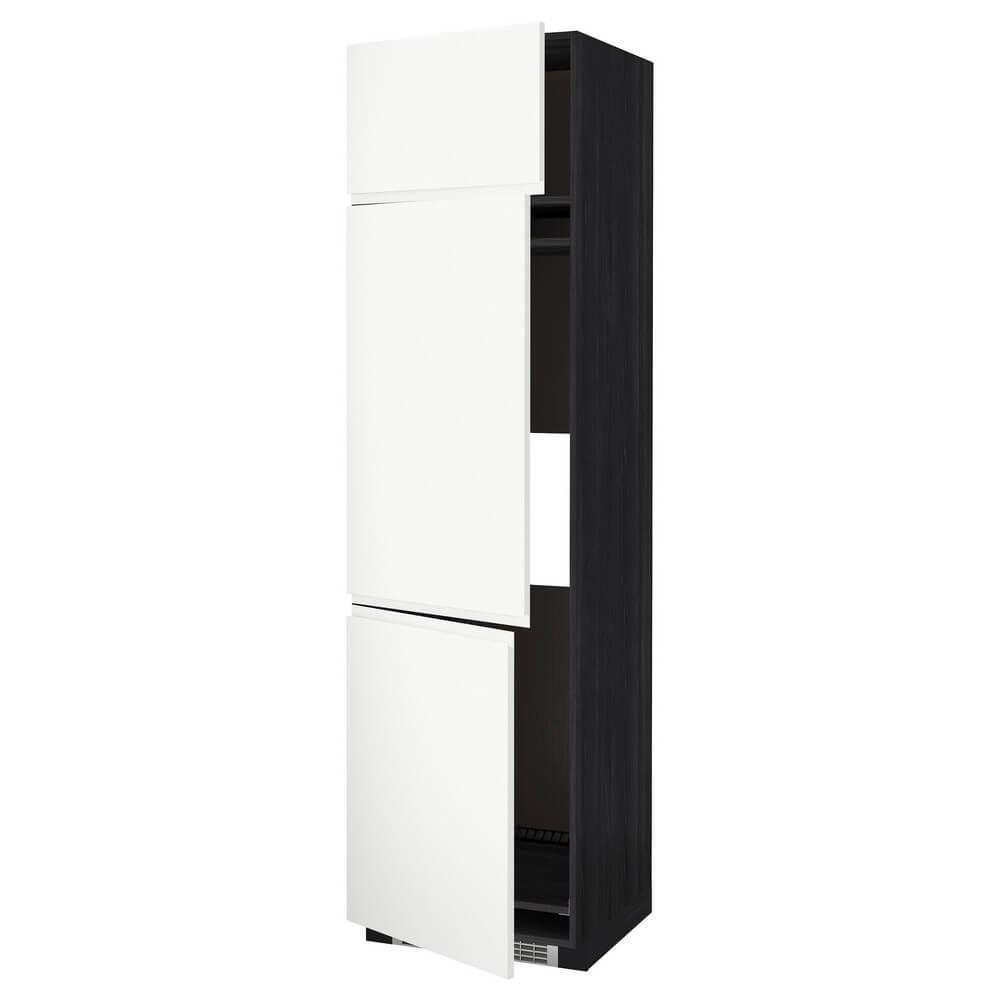 Высокий шкаф для холодильника или морозильника с 3 дверцами МЕТОД