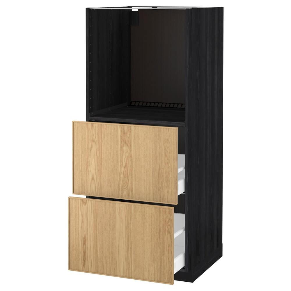 Высокий шкаф с 2 ящиками для духовки МЕТОД / МАКСИМЕРА
