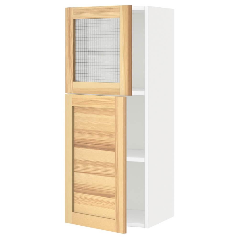 Навесной шкаф (полки, дверца и стеклянная дверца) МЕТОД