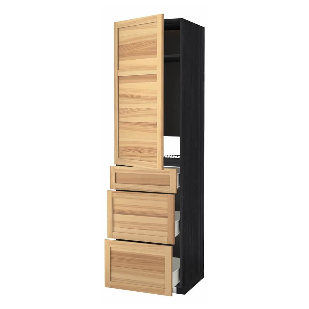 Высокий шкаф для холодильника с дверцей и 3 ящиками МЕТОД / ФОРВАРА