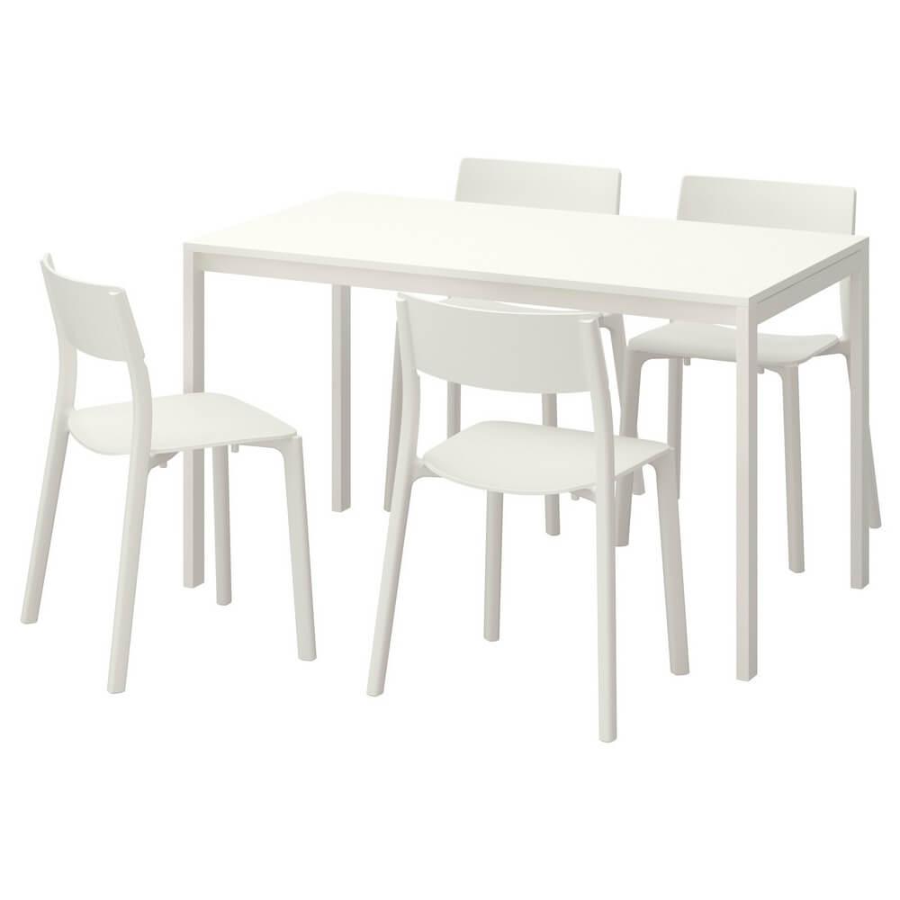 Стол и 4 стула МЕЛЬТОРП / ЯН-ИНГЕ