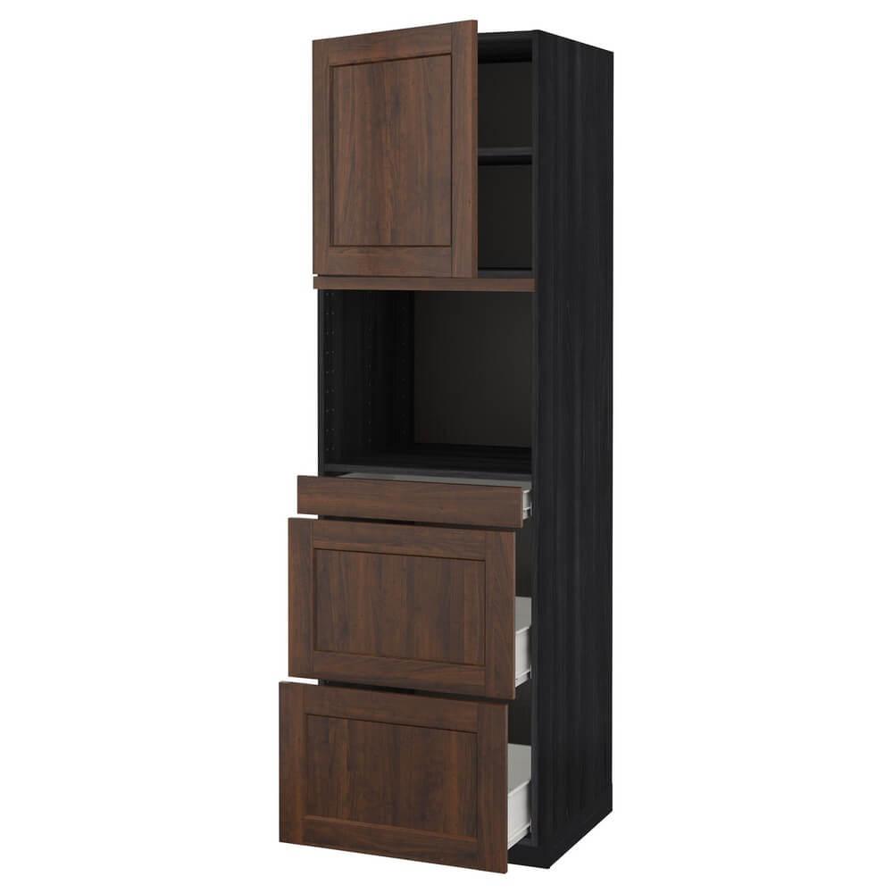 Высокий шкаф для СВЧ с дверцей и 3 ящиками МЕТОД / ФОРВАРА