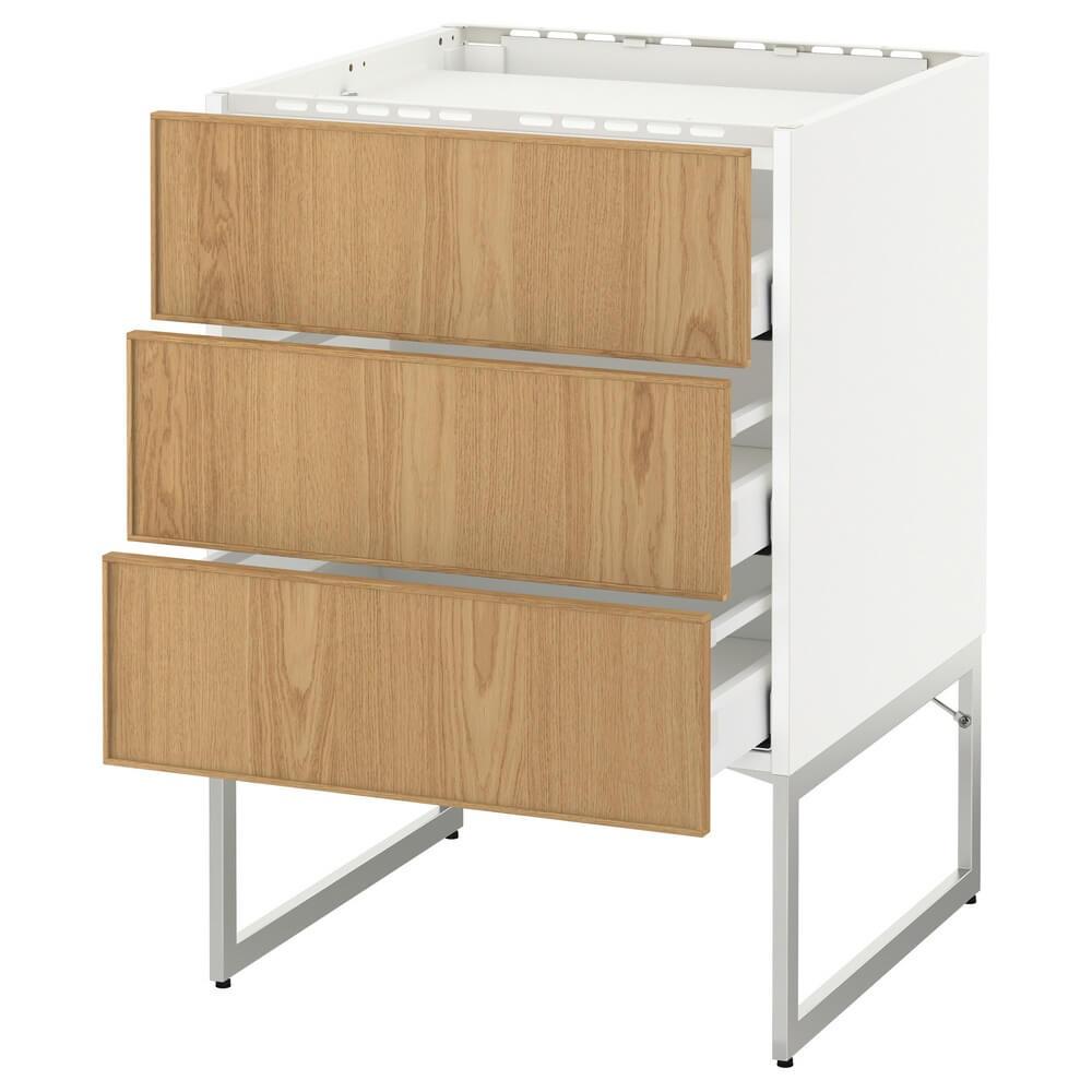 Напольный шкаф (3 фронтальные панели и 3 ящика) МЕТОД / МАКСИМЕРА