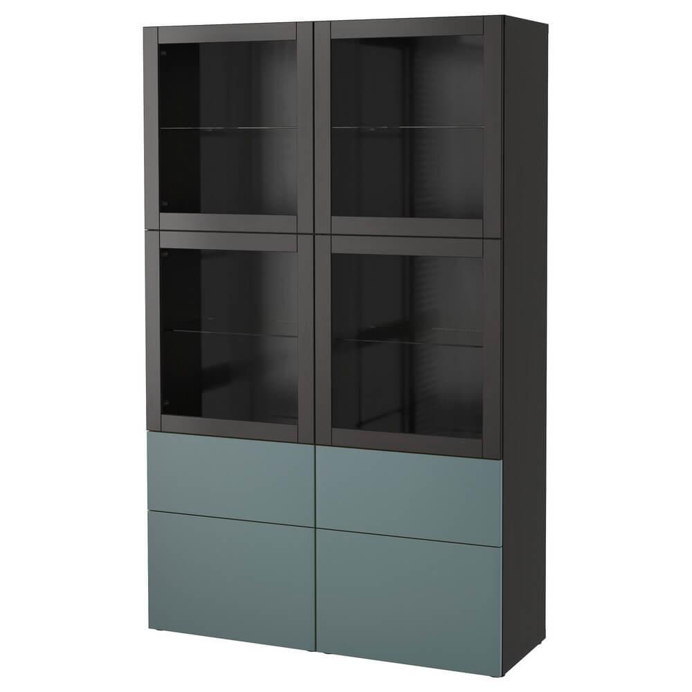 Комбинация для хранения (стеклянные дверцы) БЕСТО