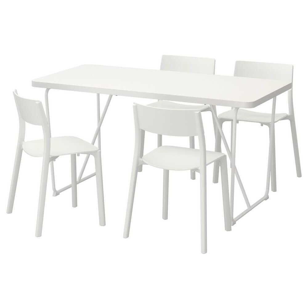 Стол и 4 стула РЮДЕБЭКК/БЭККАРИД / ЯН-ИНГЕ