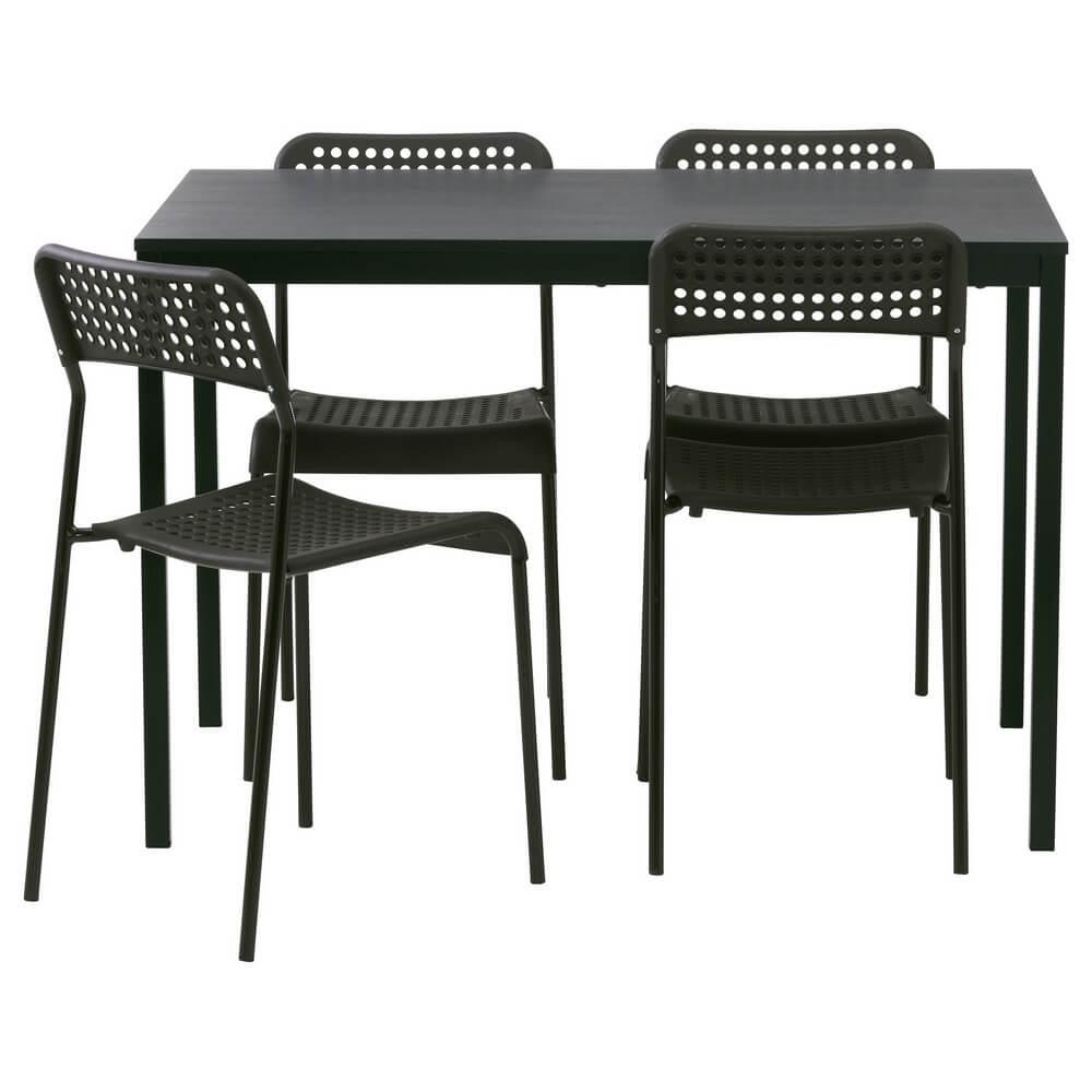 Стол и 4 стула ТЭРЕНДО / АДДЕ