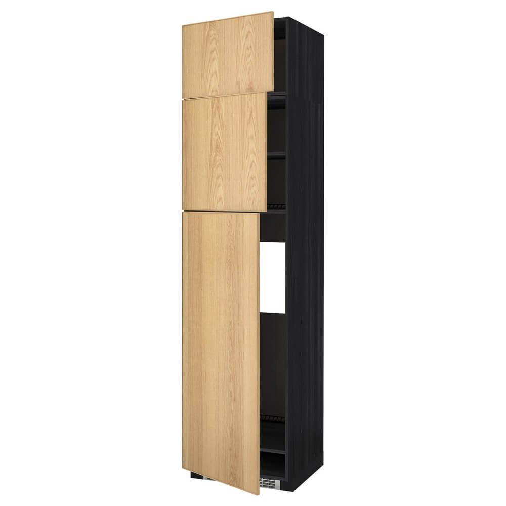 Высокий шкаф для холодильника с 3 дверцами МЕТОД