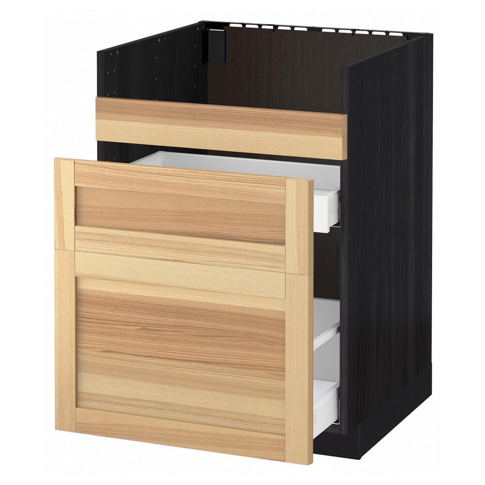 Напольный шкаф под мойку ДУМШЁ (3 фасада и 2 ящика) МЕТОД / МАКСИМЕРА