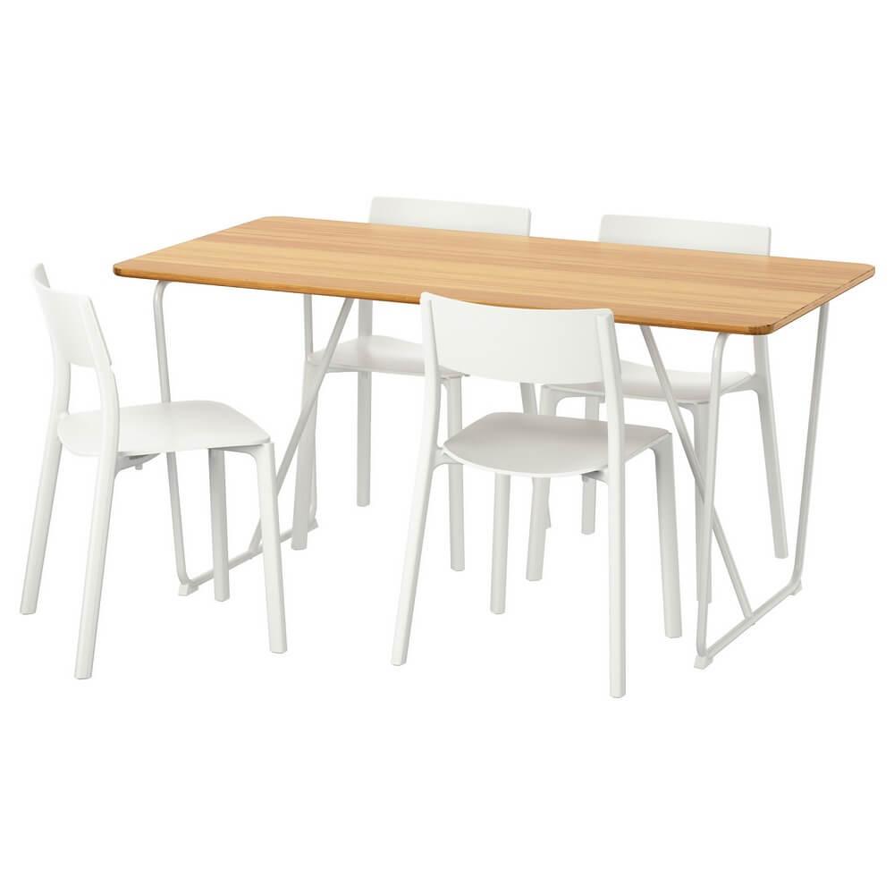 Стол и 4 стула ОВРАРЮД / ЯН-ИНГЕ