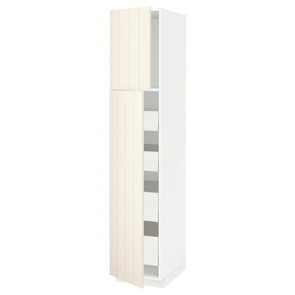 Высокий шкаф (2 дверцы и 4 ящика) МЕТОД